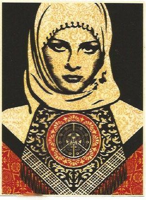 シルクスクリーン Fairey - Arab woman