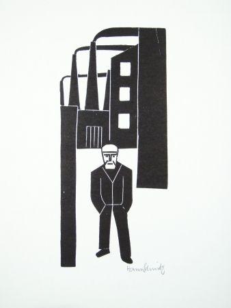 リノリウム彫版 Schmitz - Arbeiterfreizeit (Worker's Leisure Time)