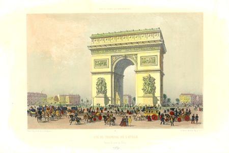 リトグラフ Benoist - Arc de Triomphe de l'Etoile