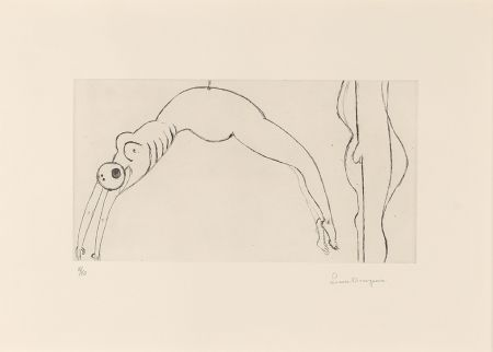 エッチング Bourgeois - Arched Figure