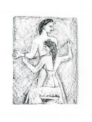 リトグラフ Campigli - Arianna I (Theseus)