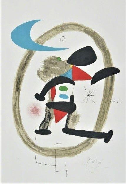 リトグラフ Miró - Arlequin Circonscrit