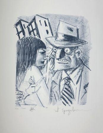 リトグラフ Spiegelman - Art Spiegelman, Lorenzo Mattotti & Claude Ponti.