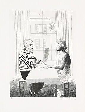 エッチング Hockney -