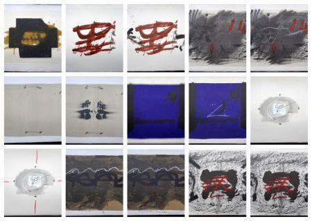 リトグラフ Tàpies - Artist Book Nocturn Matinal (with complet Portfolio)
