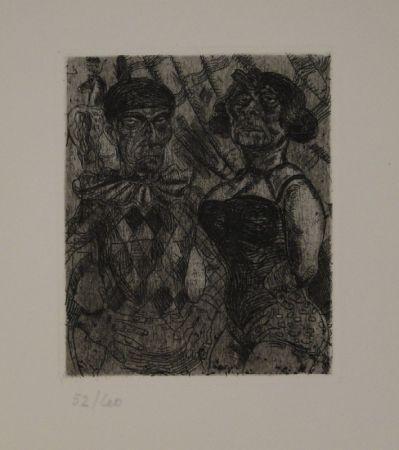 エッチング Schürch - Artistenpaar