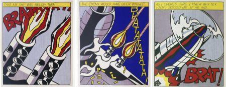リトグラフ Lichtenstein -  As I Opened Fire