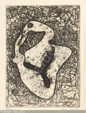 エッチング Ernst - At eye Level. Paramyths (New Poems and Collages).