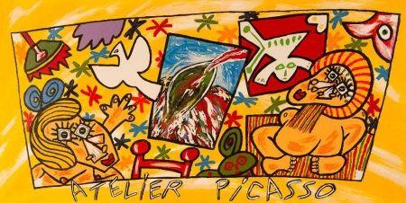 リトグラフ Donzelli - Atelier Picasso