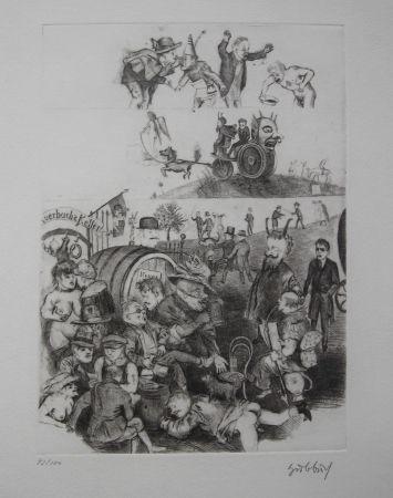 エッチング Hubbuch - Auerbachs Keller in Leipzig