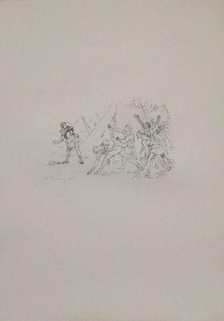 リトグラフ Slevogt - Aufstand der Soldaten gegen Klearchos