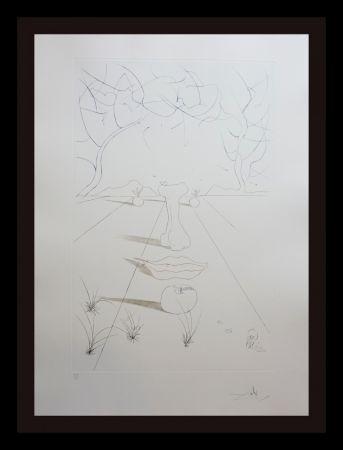 彫版 Dali - Aurelia Visage Surrealiste