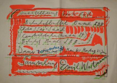 """シルクスクリーン Roth - """"Ausstellung Dieter Roth / Bahnhofbuffet Basel SBB..."""
