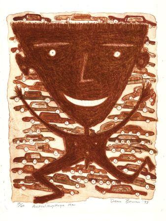 リトグラフ Bowen - Australithopiteque Man
