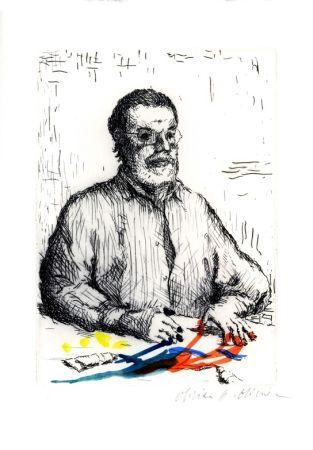 エッチングと アクチアント Olivier O - Autoportrait