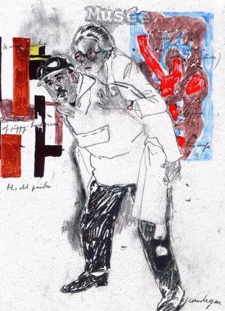 シルクスクリーン Le Gac - Autoportrait