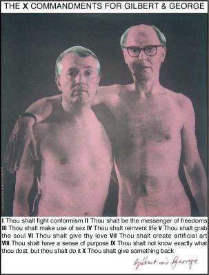 シルクスクリーン Gilbert & George - Autoportrait