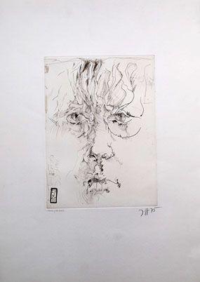 エッチング Janssen - Autoportrait