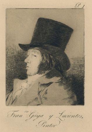彫版 Goya - Autorretrato