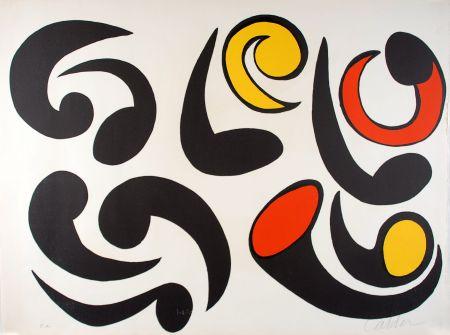 リトグラフ Calder - Autres têtards