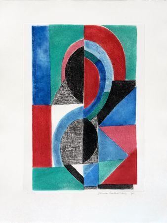 エッチングと アクチアント Delaunay - Avec Moi Meme - Plate ?