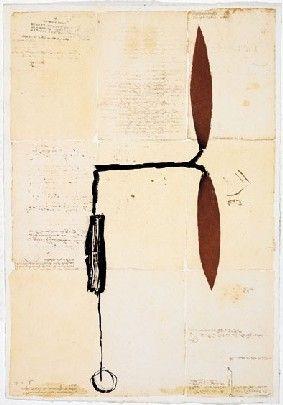 多数の Riera I Aragó - Avió hèlix vermella sobre manuscrits