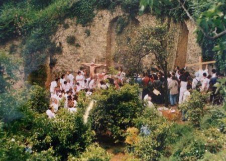 写真 Nitsch - Azione N. 96 – Giardini S. Martino A Napoli