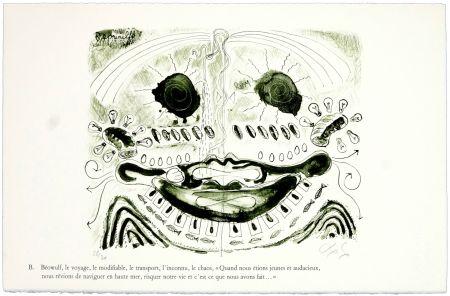 リトグラフ Nørgaard - B. Béowulf, le voyage, le modifiable, le transport, l'inconnu, le chaos,