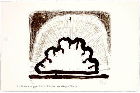 リトグラフ Nørgaard - B. Elément x y z, gypse, feutre, fil de fer, hommage à Beuys, 1966 - 1990