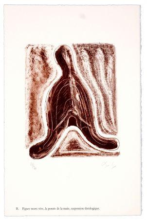 リトグラフ Nørgaard - B. Figure mort-vive, la pensée de la main, suspension théologique