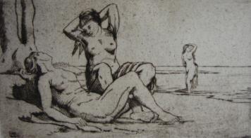 彫版 Wilm - Badende Frauen / Bathing Women