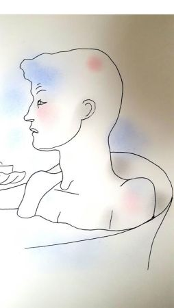 リトグラフ Cocteau - Bain
