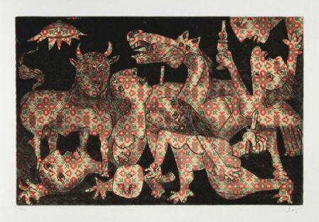エッチングと アクチアント Baj - Baj chez Picasso