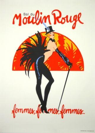 シルクスクリーン Gruau - Bal du Moulin Rouge