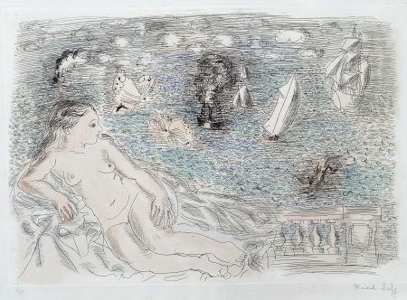 多数の Dufy - Balcon Sur La Mer (Baigneuse aux Papillons)