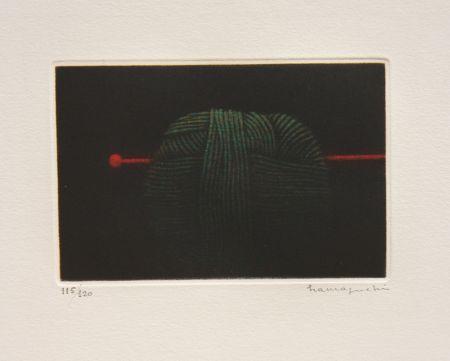 メゾチント彫法 Hamaguchi - Ball of Green Yarn