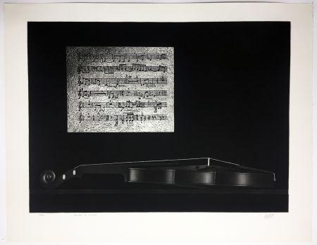 メゾチント彫法 Avati - Ballade et Violon (1964)