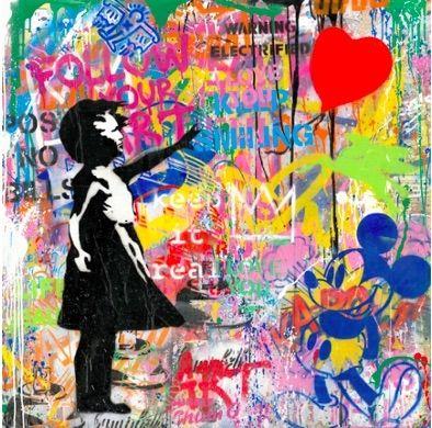 シルクスクリーン Mr Brainwash -  Balloon Girl, 2020