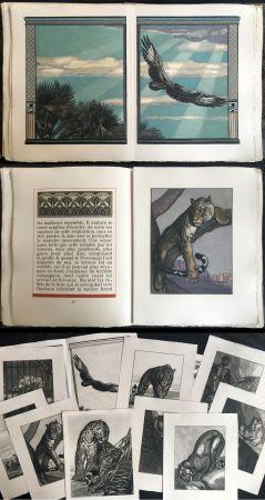 挿絵入り本 Jouve - Balzac : UNE PASSION DANS LE DÉSERT. Illustrations de Paul Jouve (1949).