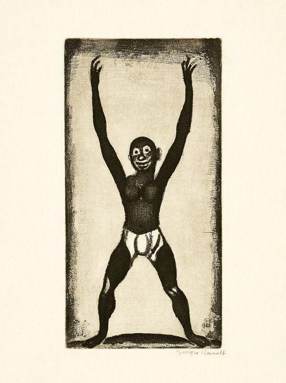 彫版 Rouault - Bamboula