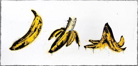 シルクスクリーン Mr. Brainwash - Banana Split (White)