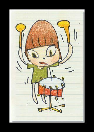 リトグラフ Nara - Banging The Drum