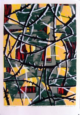 シルクスクリーン Anderberg - Barbed wire dawn