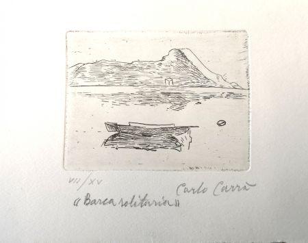 エッチング Carra - Barca solitaria