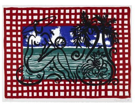 リトグラフ Szczesny - Bathers on Mustique