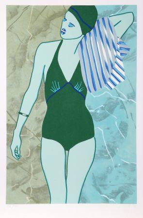 シルクスクリーン Kogelnik - Bathing in Green