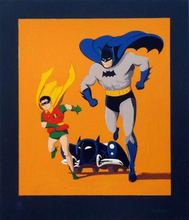 シルクスクリーン Ramos - Batman, Robin and Batmobile