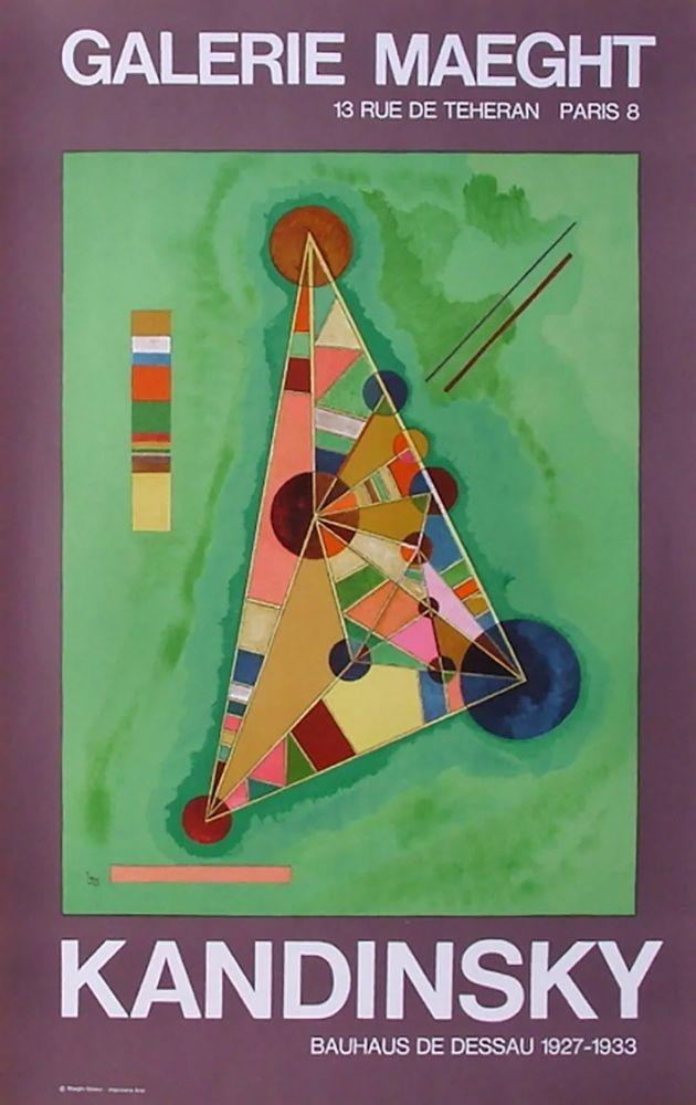 掲示 Kandinsky - BAUHAUS DE DESSAU. Affiche originale en lithographie (1965).