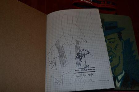 挿絵入り本 Spiegelman - Be a Nose! (with an original pencil drawing of