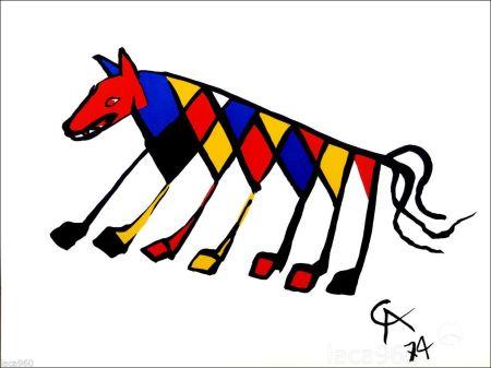 リトグラフ Calder - Beastie